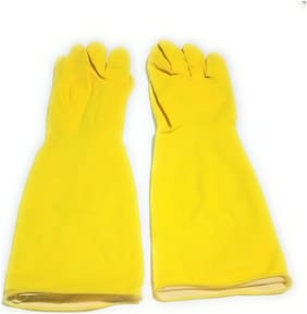 GLOVES FULL SIZE  yellow use for gardaing work kitchen work