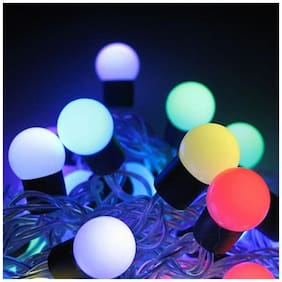 Glowtronix Diwali light 20 bulb Small 5m Fancy LED String Fairy Lights for Diwali Decoration [Set of 1]