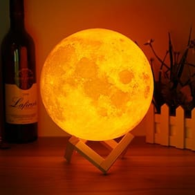Glowtronix Moon Lamp 18cm Touch Sensor 3D Moon Lamp USB Color Changing LED Luna Night Light Kids Gift