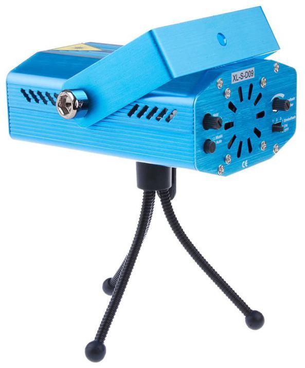 GLOWTRONIX Portable Mini LED R&G Laser Projector Stage Lighting Effect Adjustment DJ...