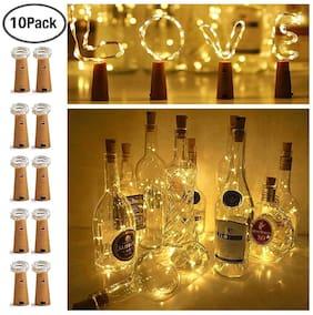 Glowtronix Wine Bottle Cork Lights;Fairy Mini String Lights Copper Wire Lights For Christmas;Halloween;Wedding (Set Of 10)