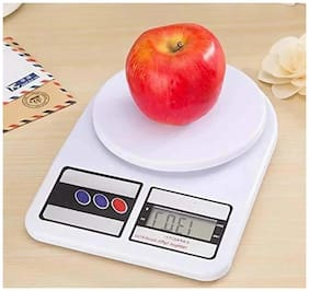GLUCKLICH DIGITAL ELECTRONIC 10 KG WEIGHT SCALE MACHINE LCD KITCHEN WEIGHT SCALE FOR MEASURING FRUITS,SPICE,FOOD,VEGETABLES(WHITE)