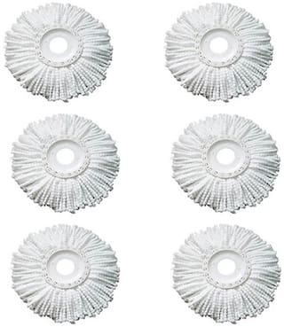 GLUCKLICH MOP REFILL,WHITE COLOR,PACK OF 6
