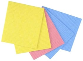 GLUCKLICH MULTICOLOR KITCHEN CLEANING WIPES/SPONGE/SCRUBBER PAD/PACK OF 5