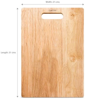 Godrej Cartini Rubberwood Chopping Board large Rubberwood Brown