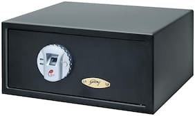 Godrej Biometric Mild steel Home Safe ( Black , 23 L )