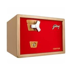 Godrej Key lock Steel Home Safe ( Red , 21 L )
