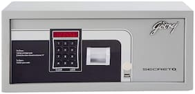Godrej Secreto Electronic Safe with Free Demo (Silver, Powder Coated Finish)
