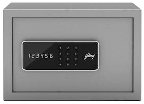 Godrej Security Solutions Forte Pro 8 litres Digital Electronic Safe Locker for Home & Office with Motorized Locking Mechanism (Light Grey)