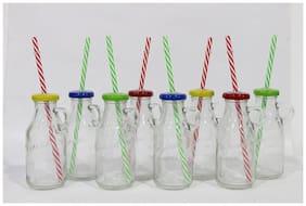 Gods Kitchen 300 ml Glass Assorted Water Bottles - Set of 8