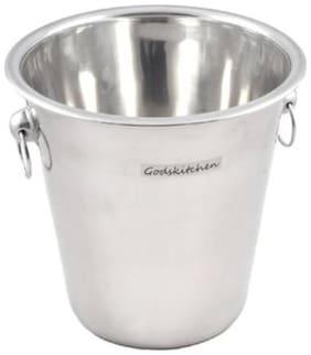 Godskitchen Champagne Bucket | Ice Bucket Stainless Steel | Wine Cooler - 21 x 21cm (4 Litre)