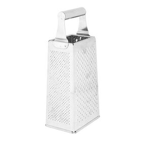 Godskitchen Professional stainlesssteel silver Box Grater  with 4 Sides  Best for Parmesan Cheese  Vegetables  Ginger  garlic and dry fruits