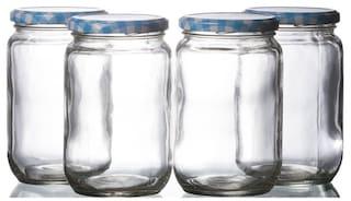 Buy Godskitchen 700ml Set Of 4 Mason Jars With Colourful Lids