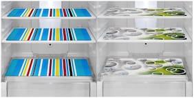 Goel Home Decor PVC printed fridge mat/dinning table mats/drawet mat-Set of 6