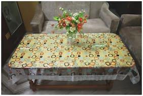Goel Home Decor Plastic Table Cloth Multi print- Pack of 1- 40*64