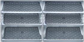 Goel Home Decor PVC Anti Slip Fridge Mats/Drawer Mats-12 inches * 18 inches-Set of 6 pieces