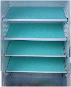 Goel HomeDecor Pack Of 4 sea green Crystal printed Refrigerator/Fridge Drawer Mats, 12 inch * 18 inch