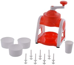 Gola Maker Machine, Ice Gola Maker, Manual Ice Crusher, Non Electric Ice Gola Maker, Handy Ice Snow Maker for Summer (Set of 1) Assorted Color