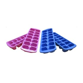 Goldcave Multicolor Ice Trays - Set Of 4