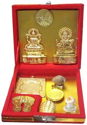Goldcave Multicolour Shri Dhan Laxmi Kuber Dhan Varsha Yantra
