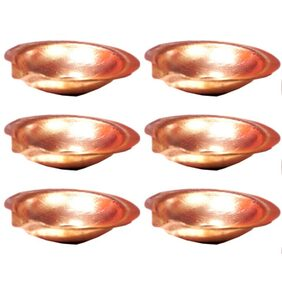 Goldcave Pure Copper Diya - Set of 6