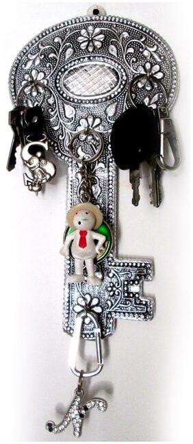 Goldcave Silver Key Design Key Holder