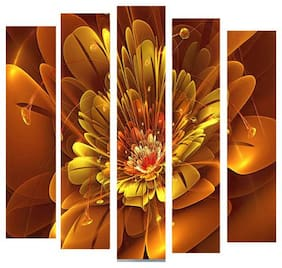 GOLDEN FLOWER SET OF 5
