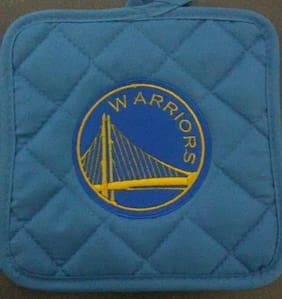 Golden State Warriors Embroidered Blue Potholder