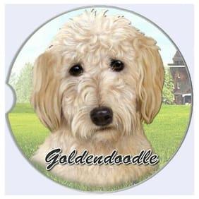Goldendoodle Absorbent Car Cup Coaster