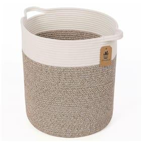 Goodpick Medium Cotton Rope Basket - Woven Basket - Baby Laundry Basket - Blanke