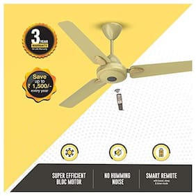 Atomberg Efficio+ Energy Saving 5 Star Rated with Remote and BLDC Motor 1200 mm Premium Ceiling Fan ( Gold , Pack of 1 )