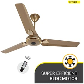 Atomberg Efficio+ Energy Saving 5 Star Rated with Remote and BLDC Motor 1200 mm Premium Ceiling Fan ( Gold )