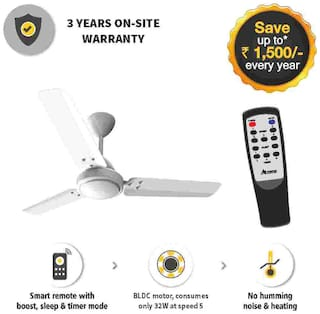 Gorilla E1-1050W 1050 mm Ceiling Fan - White