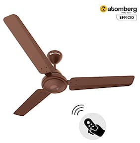 Atomberg Efficio Energy Saving 5 Star Rated with Remote Control and BLDC Motor 1200 mm Decorative Ceiling Fan ( Matte brown )