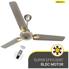 Atomberg Efficio+ Energy Saving 5 Star Rated with Remote and BLDC Motor 1200 mm Premium Ceiling Fan ( Sand grey )