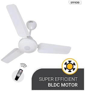 Atomberg Efficio Energy Saving 5 Star Rated with Remote Control and BLDC Motor 900 mm Decorative Ceiling Fan ( White )