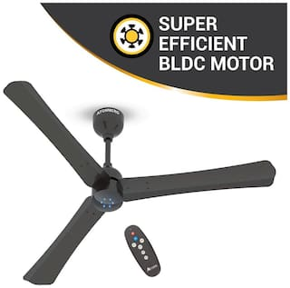 Atomberg Renesa Smart+ Energy Efficient with Remote Control and BLDC Motor 1200 mm Decorative Ceiling Fan ( Brown , Pack of 1 )