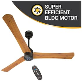 Atomberg Renesa Smart+ Energy Efficient with Remote Control and BLDC Motor 1200 mm Decorative Ceiling Fan ( Oakwood , Pack of 1 )