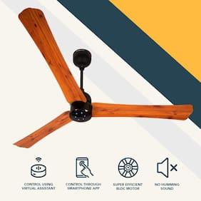 Gorilla  Renesa Smart+ 1200 MM Decorative IoT Enabled Ceiling Fan (oak wood)