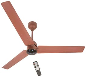 Gorilla Renesa Ceiling Fan With Remote Control and BLDC Motor,1200mm 3 Blade Ceiling Fan (Brown Black)