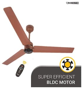 Atomberg Renesa with Remote Control and BLDC Motor 1200 mm Premium Ceiling Fan ( Brown , Pack of 1 )