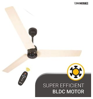 Atomberg Renesa with Remote Control and BLDC Motor 1200 mm Premium Ceiling Fan ( Ivory black )