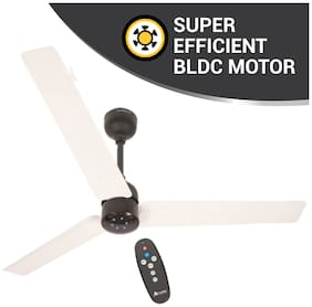 Atomberg Renesa with Remote Control and BLDC Motor 1200 mm Premium Ceiling Fan ( White & Black , Pack of 1 )