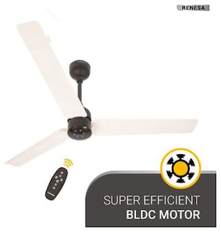 Atomberg Renesa with Remote Control and BLDC Motor 1200 mm Premium Ceiling Fan ( White , Black  )