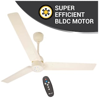 Atomberg Renesa with Remote Control and BLDC Motor 1200 mm Premium Ceiling Fan ( Ivory , Pack of 1 )