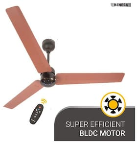 Atomberg Renesa with Remote Control and BLDC Motor 1200 mm Premium Ceiling Fan ( Brown & Black , Pack of 1 )