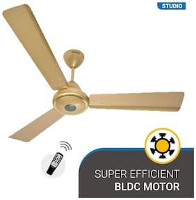 Atomberg Studio Energy Efficient with Remote Control and BLDC Motor 1200 mm Decorative Ceiling Fan ( Gold )