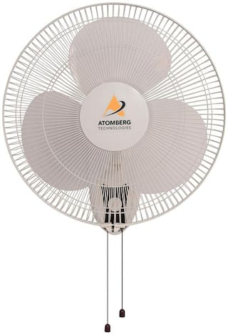 Atomberg Wall Mounted Super Energy Efficient 5 Star Rated with BLDC Motor 400 mm Standard Wall Fan ( White , Pack of 1 )