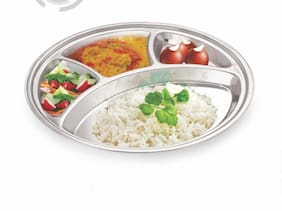 Goswami CORE Stainless steel 4 compartment Bhojan thali - set of 1