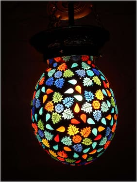Graceful Glass pendant Beautiful Mosaic work Hanging Lamp Shade Attreactive design Decoration Ceiling Lamp